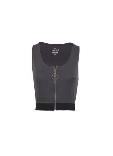 Slazenger Pro Fit Kadın Kısa Kol Tişört Gri